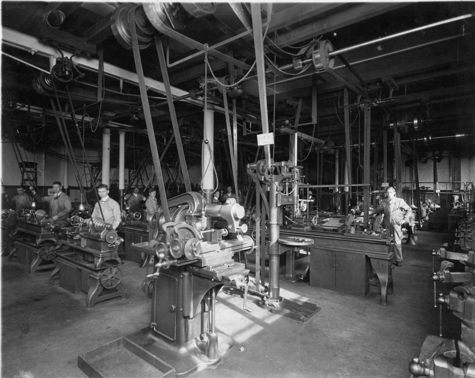 20th Century Drexel Main Building Machine Shop